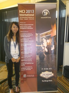 Kimberly at HCII 2011, Orlando, USA