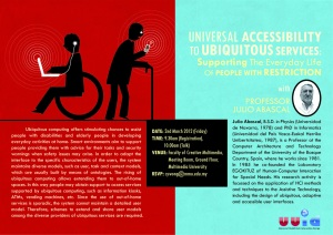 Universal Accessibility to Ubiquitous Services Seminar