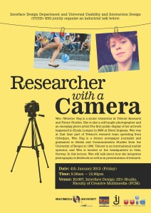 Researcher with a Camera Talk by Wenche Nag.