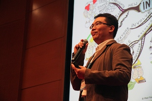 "Dr Khong talked about ""Nurturing Innovation in Youths for the 21st Century"" at the World Assembly of Youth (WAY)."